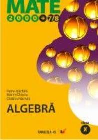Algebra. Clasa A X-a