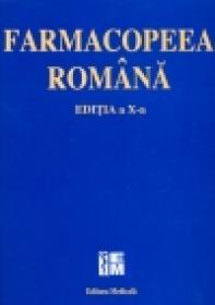 Farmacopeea Româna - editia a X-a