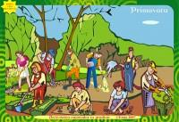 PRIMAVARA. Activitatea oamenilor in livada, pe camp, in gradina