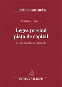Legea privind piata de capital. Comentariu pe articole