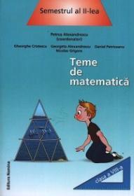 Teme de matematica. Clasa a VIII-a, semestrul al II-lea
