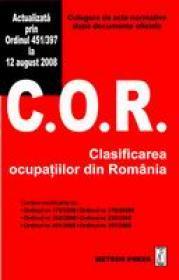 Clasificarea ocupatiilor din Romania