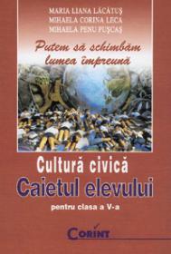 Cultura civica. Caietul elevului clasa a V-a