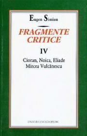 Fragmente critice. Vol. IV