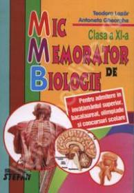 Mic memorator de biologie, pentru clasa a XI-a
