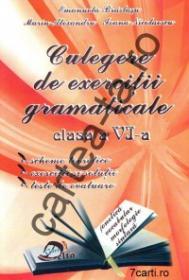Culegere de exercitii gramaticale - clasa a VI-a