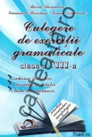 Culegere de exercitii gramaticale - clasa a VIII-a