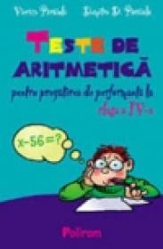 Teste de aritmetica pentru clasa a IV-a