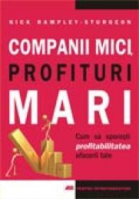 Companii Mici. Profituri Mari<br />cum Sa Sporesti Profitabilitatea Afacerii Tale